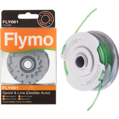 2 x FLYMO Strimmer Spool /& Line 2.0mm Double Auto FLY061 Genuine Contour 600HD