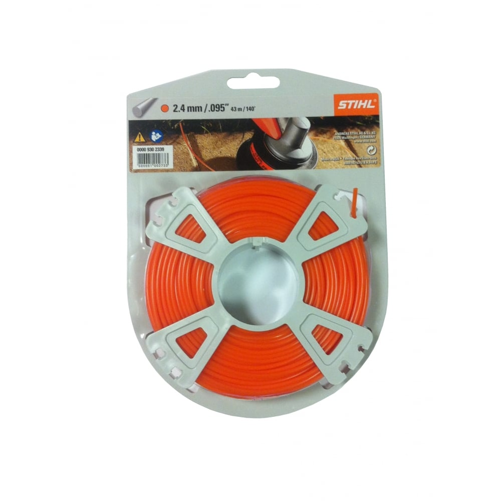 Genuine Stihl Trimmer line ROUND ORANGE 2.4mm x 43M Product Code 0000 930 2339
