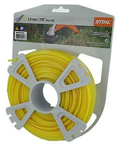 Genuine Stihl Trimmer line SQUARE (YELLOW) 3.0mm x 55M Product Code 0000 930 2644