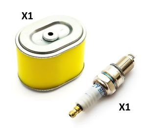 Honda GX140, GX160 and GX200 Air Filter and Spark Plug  Replaces Part Number 17210 ZE1 820