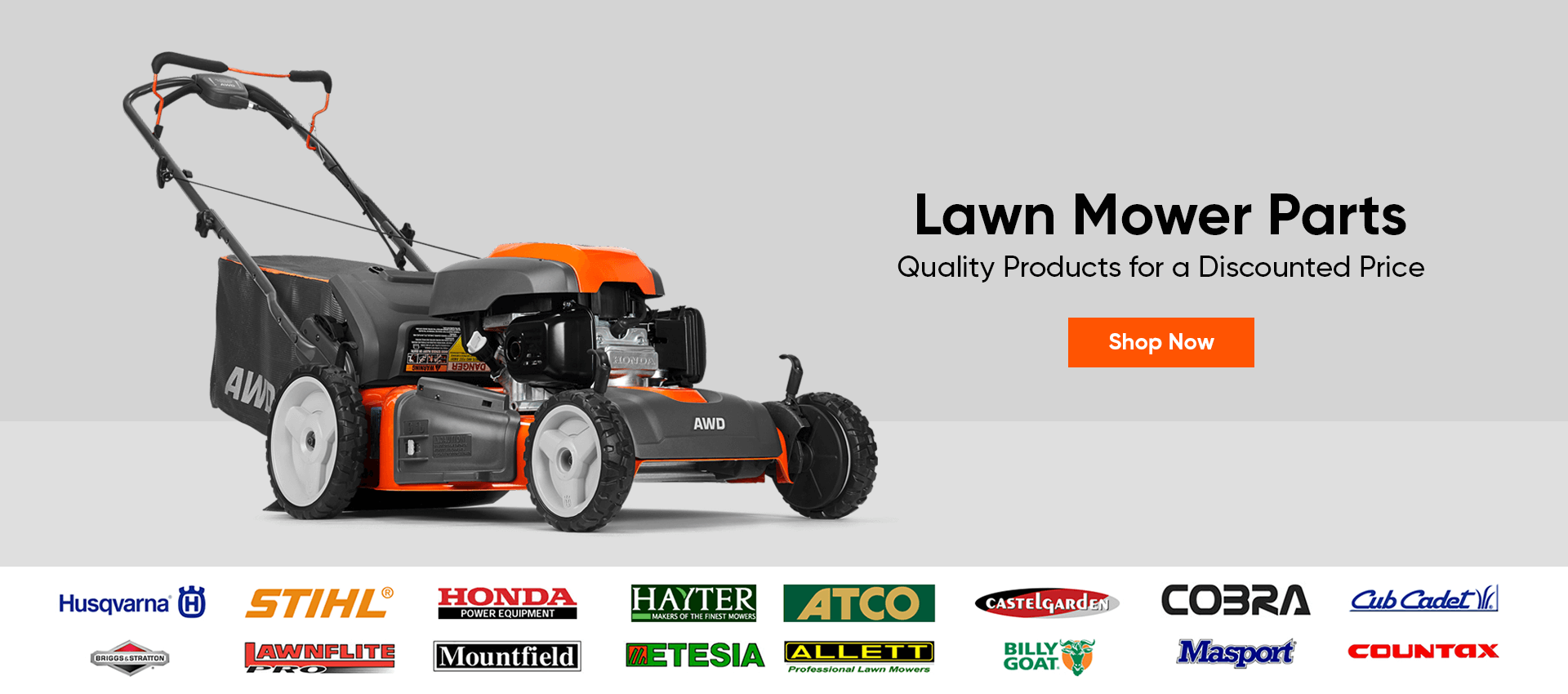 Lawn Mower parts banner